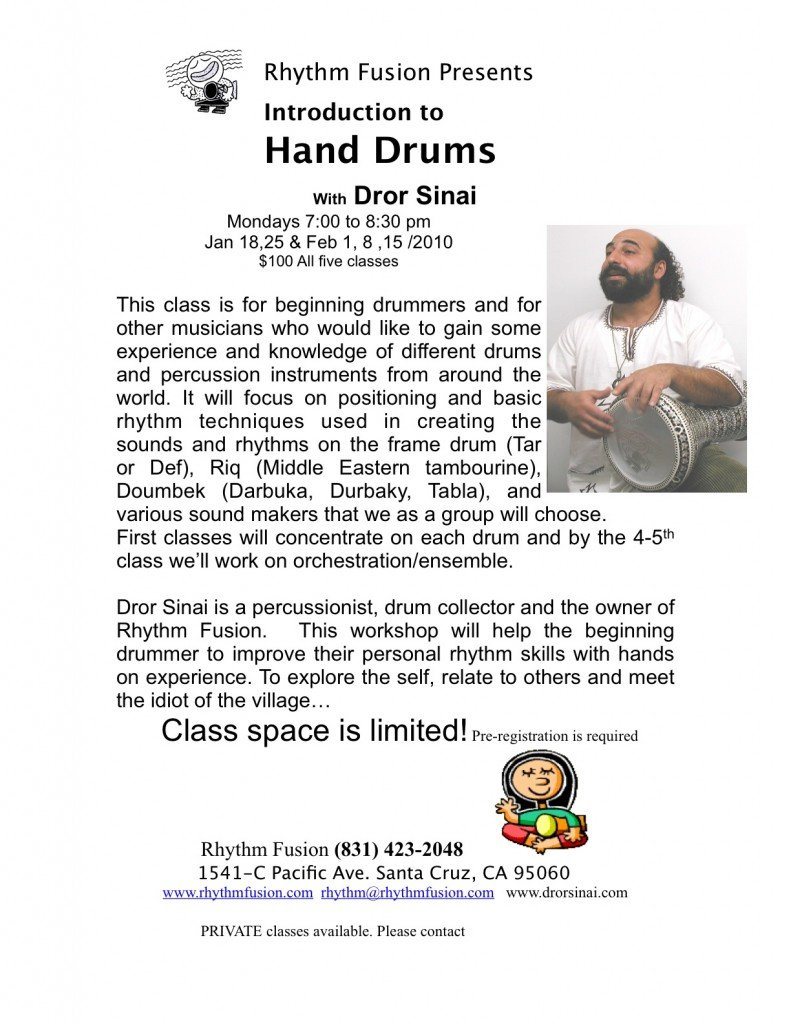 Intro to Hand Drums Jan-Feb2010